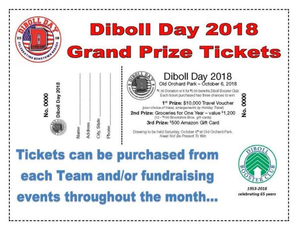 Get your grand prize tickets from any candidate