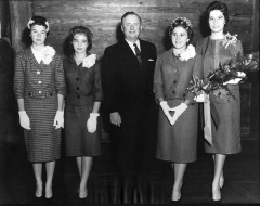 1960 Queen Candidates with Price Daniel.